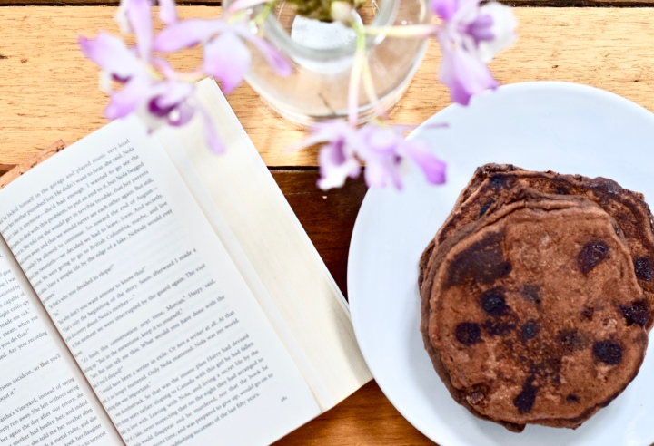 Double Chocolate Chip Pancakes | Gluten-free, Lactose-free