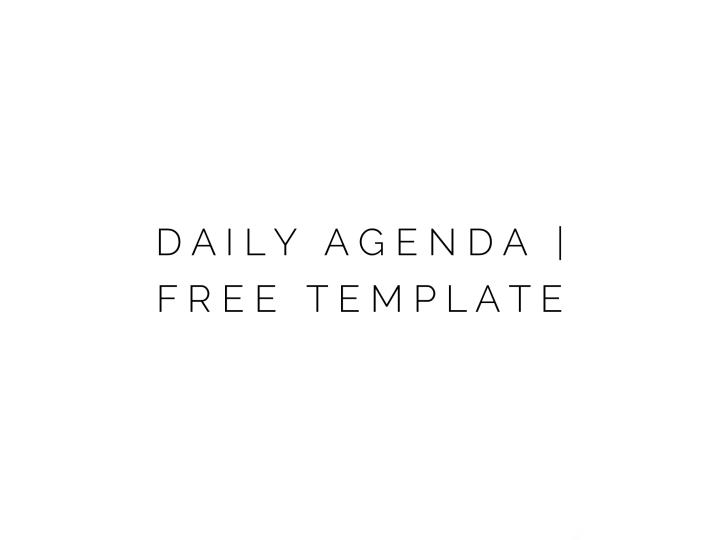 Daily Agenda | FreeTemplate